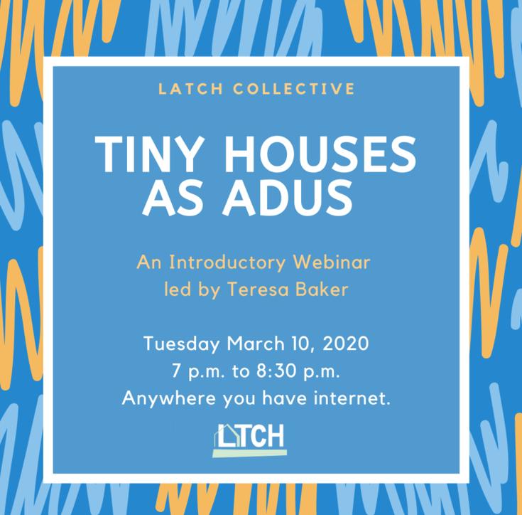 Tiny Houses As ADUs Webinar